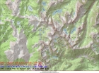 Map of our trip. Base route was 27 miles and 6400' gain, or 34.5 miles and 9550' gain with side trips.