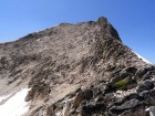 Very steep section on the east ridge of Glens Peak.