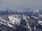 Zoomed in view of the Grand Teton from Mount Baird.