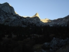 This is the Little Matterhorn as seen early in our hike. Big Basin Peak lies behind it to the right,