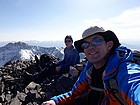 Tired but happy on the summit of Shoshone John Peak.