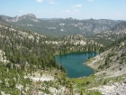 Based on this view from the pass leading to Terrace Lakes, its easy to see where Heart Lake got its name.