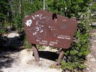 Cool trailhead sign.