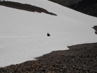 We tried to take advantage of snowfields below the 11400' saddle to speed up our descent.