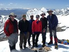 Group shot on the summit of Mount Breitenbach. Jay Krajic photo.