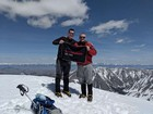 Brothers on the summit of Mount Breitenbach.