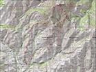 Map of our route, just over 9 miles and 4000' elevation gain round trip. We went counterclockwise.