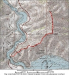 This is the route starting from the Mores Creek high bridge.