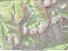 Map of the route, 11.5 miles and 4800' elevation gain round trip. I went clockwise.
