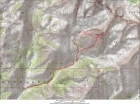 Map of our route, 10 miles round trip and 4600' elevation gain.