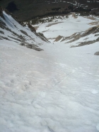 Looking down the couloir.