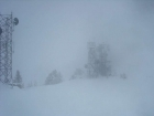 Low visibility on the summit of Snowbank Mountain.