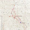 Map of the route, just over 10 miles and 3300' elevation gain, round trip.