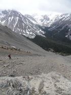 Lots of scree and talus on the descent.