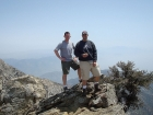 Hero shot on the summit of Cucamonga Peak.