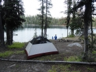 Our campsite at Curtis Lake.