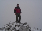 Me on the summit of The Devil's Bedstead, cold but happy.