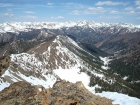 Summit Creek and the Boulder Mountains from 'Wilson Creek Peak'.