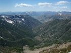 Wilson Creek and Baldy from 'Wilson Creek Peak'.