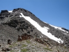 Here's a view up the northeast ridge of Big Eightmile Peak from the 9892' saddle.