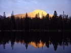 The sun setting on Yellow Peak from our campsite on Park Fork Lake.