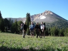 This is JJ, Ken, Jordan, and me at Yellow Junction, the saddle prior to dropping back into the Middle Fork of Little Timber Creek. Yellow Peak is behind us.