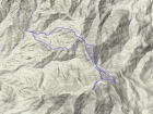Overlay of our route, downloaded from Erik's GPS. A little over 5 miles and 2000' gain round trip.