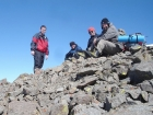 Dave, Dylan, John P, and John R on the summit of Cerro Ciento.