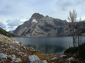 Mount Regan above Sawtooth Lake.