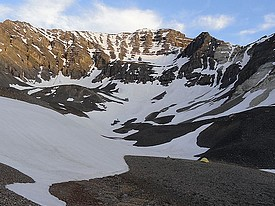 North face of USGS Peak in the Lost River Range.