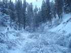 Headed up the frozen Willow Creek drainage.