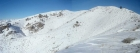 Panoramic view from the Fiddler descent.