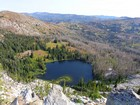 The lower Grassy Twin Lake from the namesake peak.