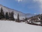 Stevens Gulch trailhead, after a mile of snowy road hiking.