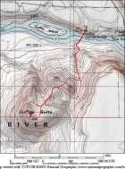 Map of our route, just over 3 miles round trip with 900 elevation gain.