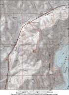 Map of our route, 2.8 miles round trip and 900' total gain.