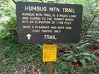 Trailhead sign for Humbug Mountain.