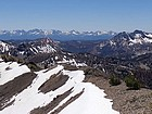 Sawtooths, Red Mountain, and Cabin Creek Peak from Tango View Peak.