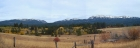 Panoramic view of Boulder Mountain, Twin Peaks, and Jughandle Mountain. Taken during the drive home.