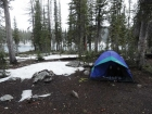 Our campsite at Langer Lake.
