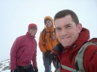 John, Michael, and Dave on the summit of Big Sister, Splattski style.