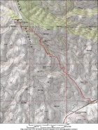 Map of the route, about 9 miles round trip and 2300' gain.