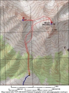 Map showing our route.