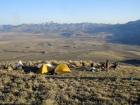 Our campsite at 8200 feet. Great views and just enough flat area to pitch a few tents.