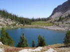 This is a photo of Lake 8609' taken after descending.
