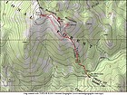 Map of our route, just under 4 miles and 1700' elevation gain round trip.