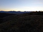Sawtooth sunset from the summit.