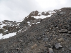 Lots of loose scree and talus on the way to the ridge.