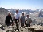 Here's Clint, me, JJ, and Jordan on the summit of Standhope Peak with the main Pioneer crest in the background.
