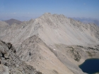 Altair Peak from Standhope Peak, Betty Lake is below. Big Black Dome is to the left.